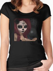 Black Widow Sugar Doll Women's Fitted Scoop T-Shirt