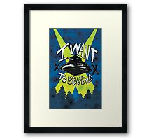 I Want To Believe Redux Framed Print
