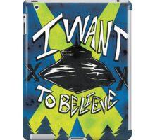 I Want To Believe Redux iPad Case/Skin