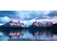 A Magical Sunrise In Torres Del Paine Photographic Print