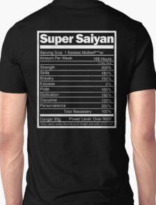 BECOME SUPER SAIYAN- SUPER SAIYAN INGREDIENTS T-Shirt
