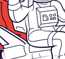 funky astronaut Sticker