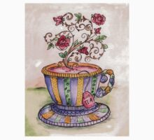 A Cup of Rose Tea Kids Clothes