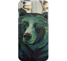 """Bear in the Birch Trees"" iPhone Case/Skin"