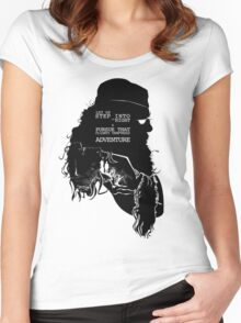 """""""Let us step into the night & pursue that flighty temptress adventure"""" Women's Fitted Scoop T-Shirt"""