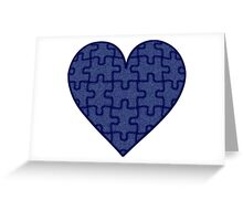Piece of my Heart in Denim Greeting Card