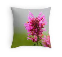 Pink Macro Throw Pillow
