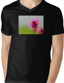 Pink Macro Mens V-Neck T-Shirt