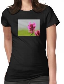 Pink Macro Womens Fitted T-Shirt