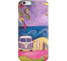 Three Surfboards and a Kombi iPhone Case/Skin