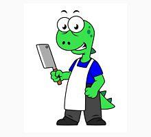 Illustration of a Tyrannosaurus Rex butcher. Unisex T-Shirt
