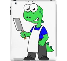 Illustration of a Tyrannosaurus Rex butcher. iPad Case/Skin