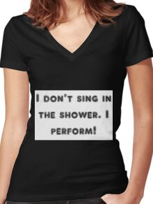 perform Women's Fitted V-Neck T-Shirt