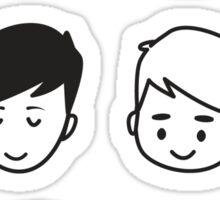 d&p faces  Sticker
