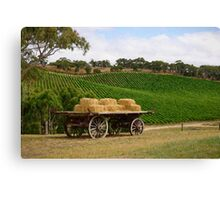 Hay Wagon (OP3) Canvas Print