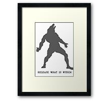 Release The Beast Framed Print