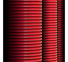 3 Red Pipes Photographic Print