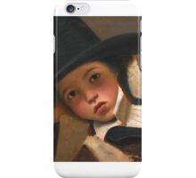Gaetano Chierici PORTRAIT STUDY OF A YOUNG BOY IN A BLACK HAT, BUST-LENGTH iPhone Case/Skin