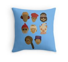 Wes Anderson's Hats Throw Pillow