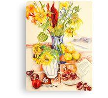 In the artist's studio Canvas Print