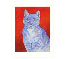 Blue Boy, With Red Wall Art Print