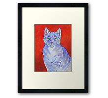 Blue Boy, With Red Wall Framed Print