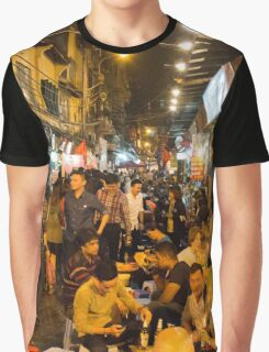 Night Time Hanoi Old Quarter Graphic T-Shirt