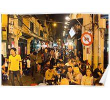 Night Time Hanoi Old Quarter Poster