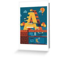 A (secret) building  Greeting Card