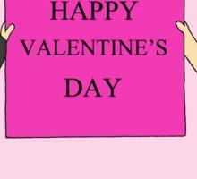 Gay valentine for men. Sticker