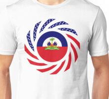 Haitian American Multinational Patriot Flag Series Unisex T-Shirt