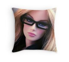 Girls who wear glasses Throw Pillow