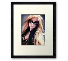 Girls who wear glasses Framed Print