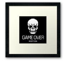 GAME OVER: INSERT COIN Framed Print