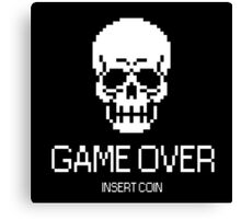 GAME OVER: INSERT COIN Canvas Print