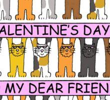 Happy Valentine's Day Dear Friend. Sticker