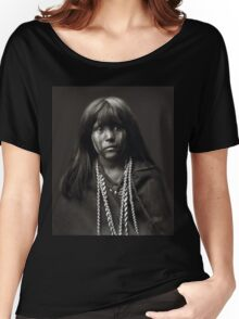 Mosa, A Mojave Woman by Edward S. Curtis Women's Relaxed Fit T-Shirt