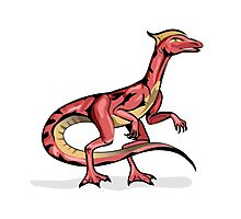 Illustration of Velociraptor. Photographic Print