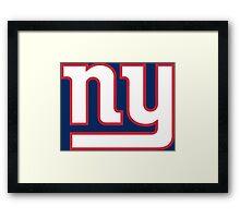 New York Giants line art Framed Print