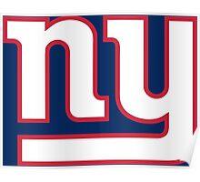 New York Giants line art Poster