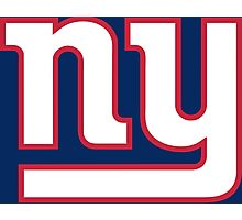 New York Giants line art Photographic Print