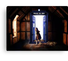 The Lion, The Witch, and The TARDIS Canvas Print