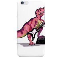 Illustration of Tyrannosaurus Rex playing the guitar. iPhone Case/Skin