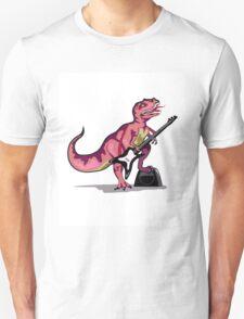 Illustration of Tyrannosaurus Rex playing the guitar. T-Shirt