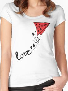 Origami airplane Women's Fitted Scoop T-Shirt