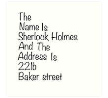 The names Sherlock Holmes Art Print