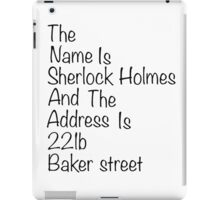 The names Sherlock Holmes iPad Case/Skin