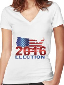 The United States presidential election 2016 Women's Fitted V-Neck T-Shirt