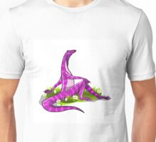 Illustration of an Iguanodon showing off her natural beauty. Unisex T-Shirt