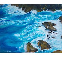 Seascape oil painting Photographic Print